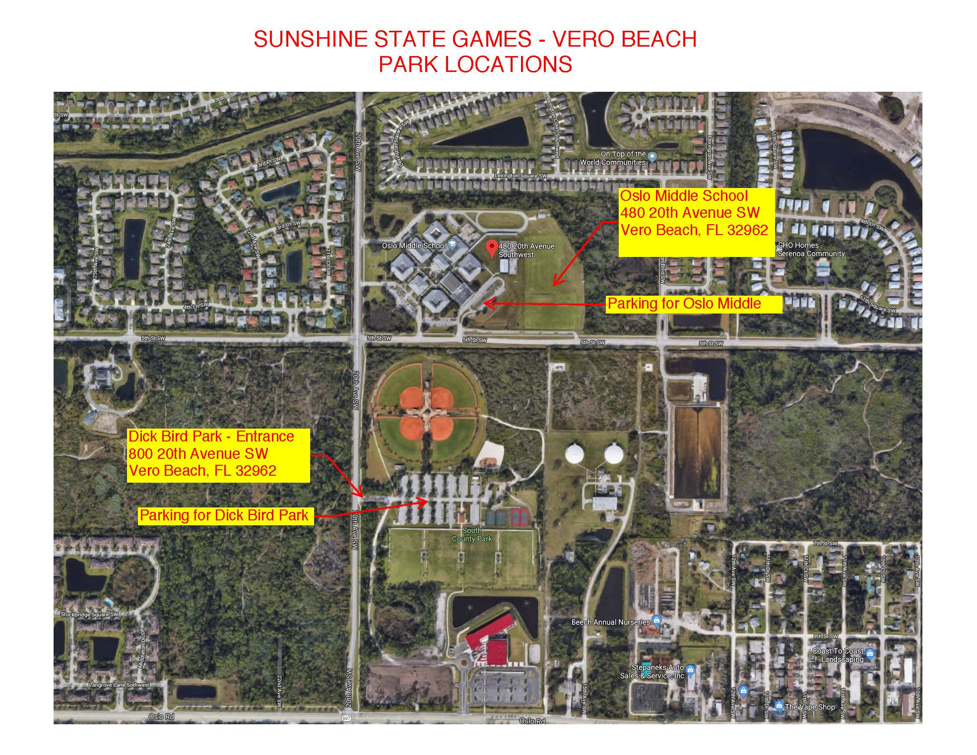 SSG Vero - Park Locations